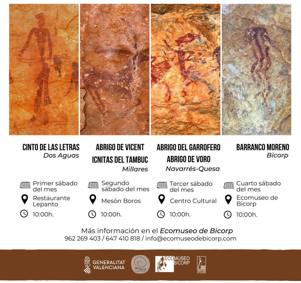 Guided cave art tours at the Caroig Massif: timetable