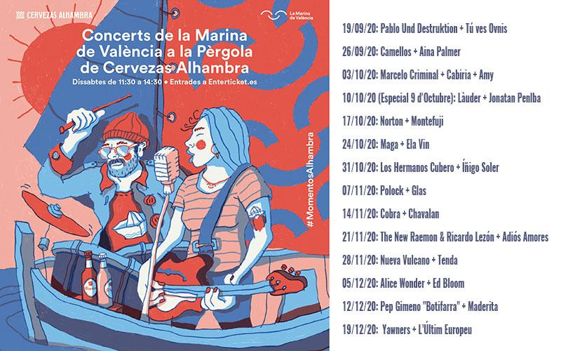 Conciertos gratuitos de La Pérgola de Cervezas Alhambra otoño 2020: programme