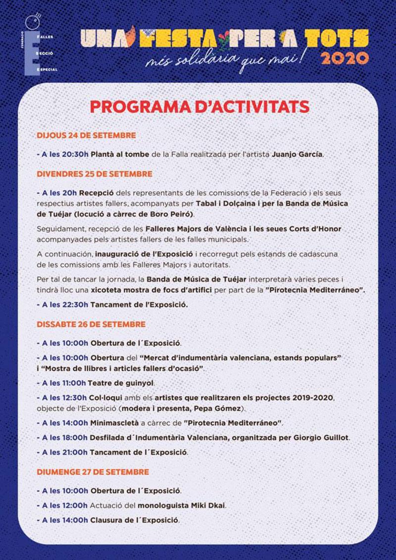 Una festa per a tots 2020: programme