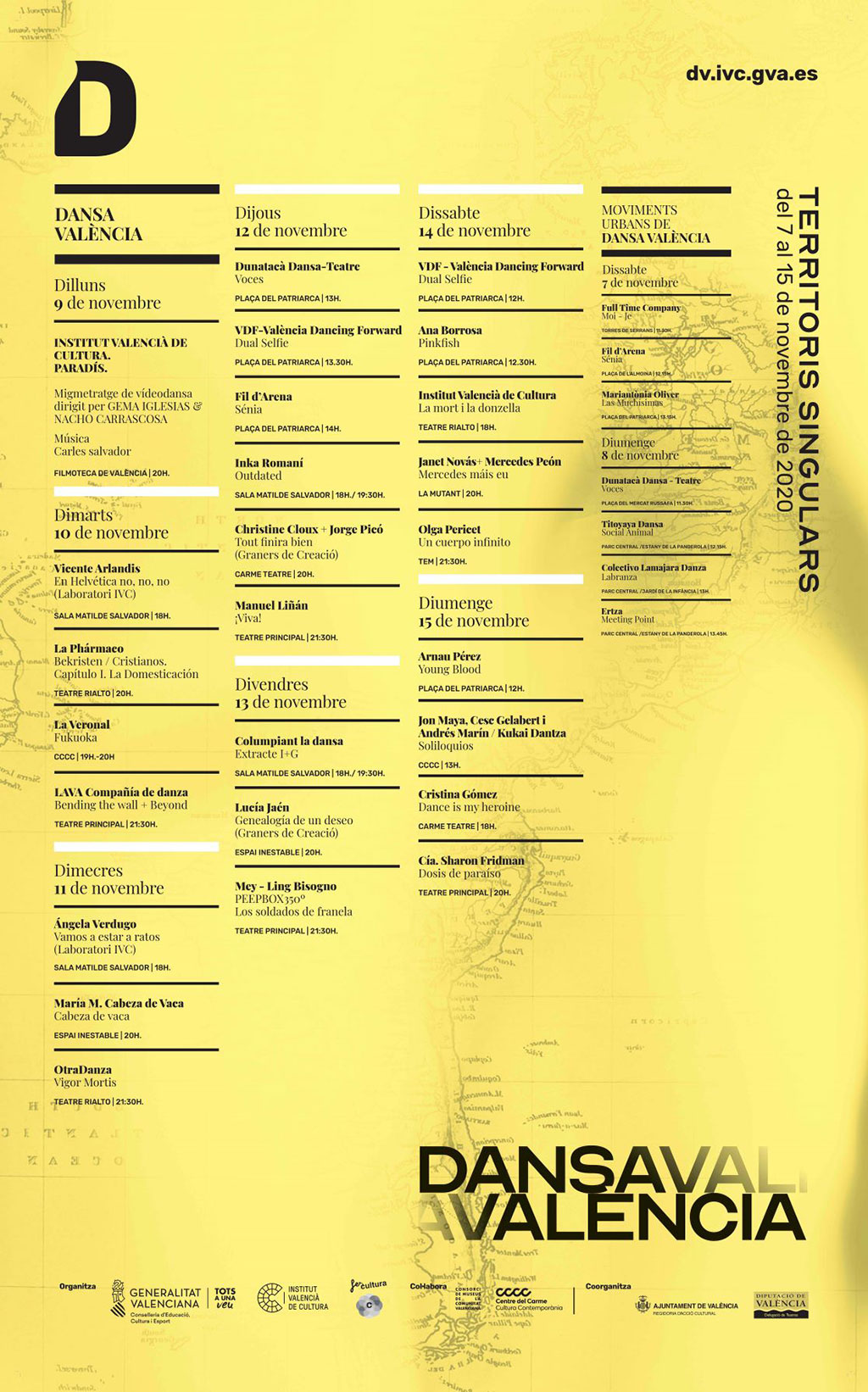 Dansa Valencia 2020: Программа
