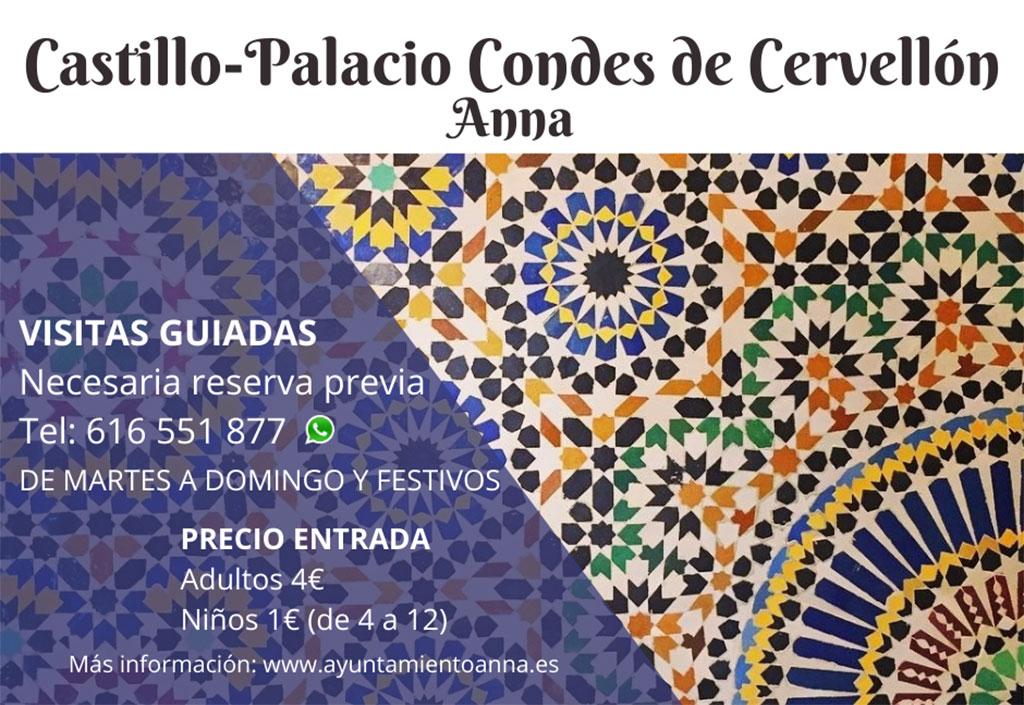 Castillo Palacio de los Condes de Cervellón: visits